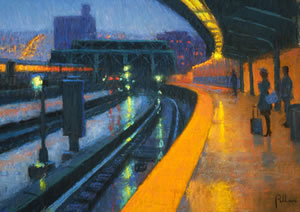 painting entitled Evening, Brooklyn Bound by Joseph Peller