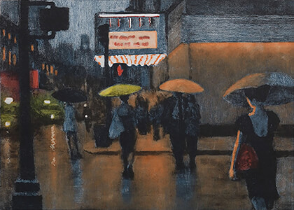 painting entitled Friday Night by Joseph Peller.