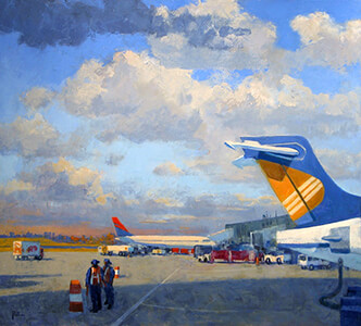 painting entitled LGA by Joseph Peller.