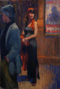 painting entitled Stage Door by Joseph Peller.